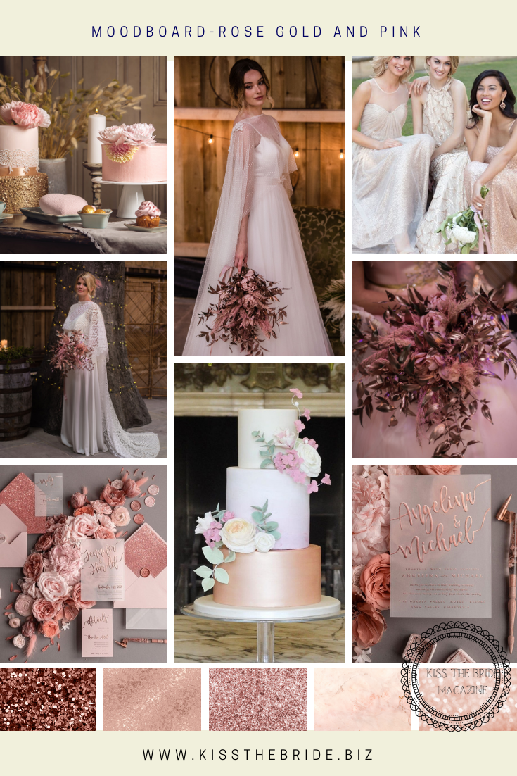 Pink and Rose Gold Wedding ideas ~ KISS THE BRIDE MAGAZINE