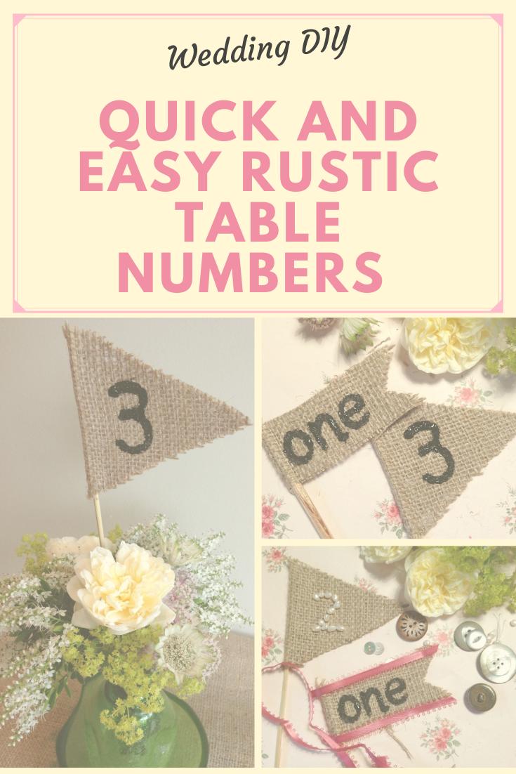 DIY Rustic table numbers