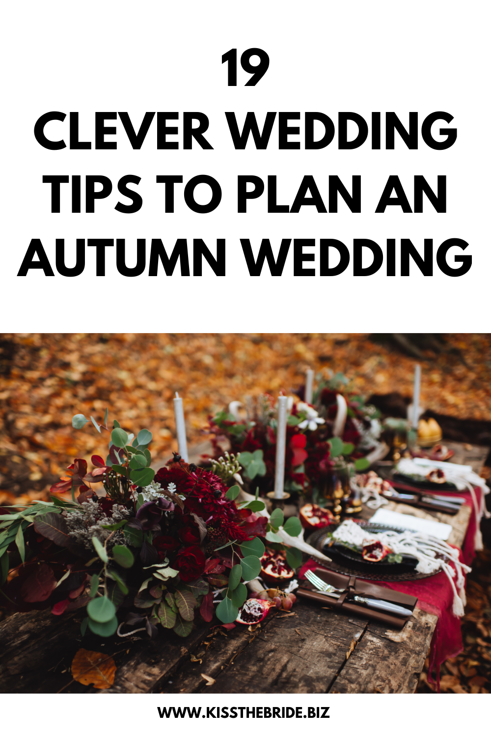 Autumn wedding planning tips and ideas