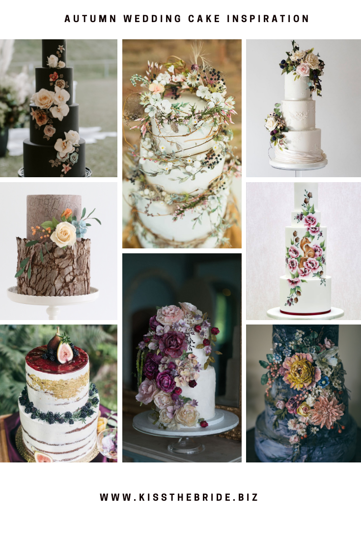 Autumn wedding cake ideas