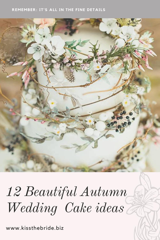 12 Beautiful Autumn wedding cakes