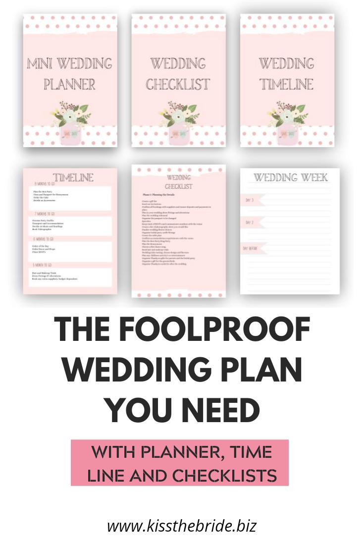 The ultimate wedding plan