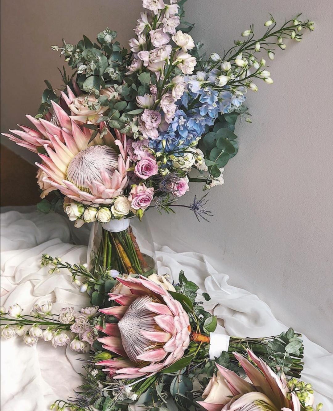 Pastel Protea Bridal bouquet
