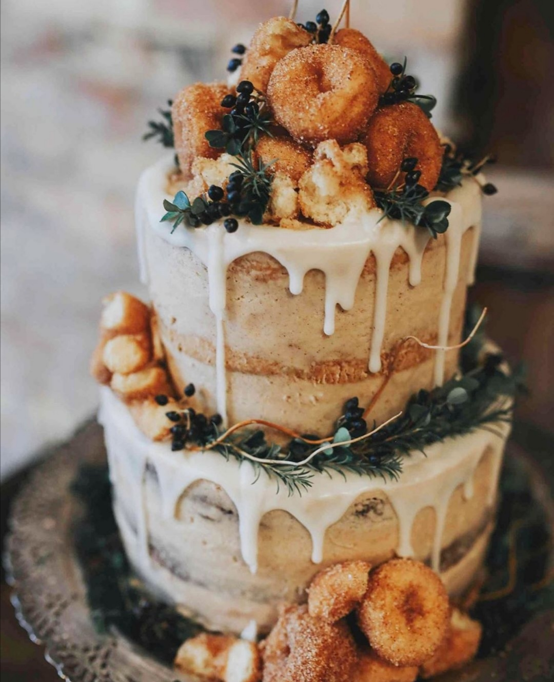 Apple Donut wedding cake