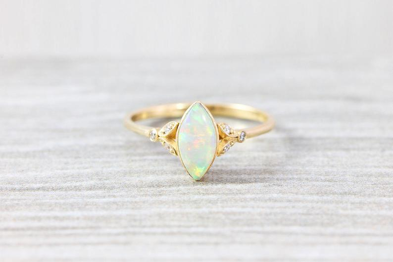 Marquise Opal engagement ring
