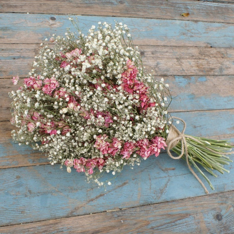 Dried Flower candyfloss bouquet