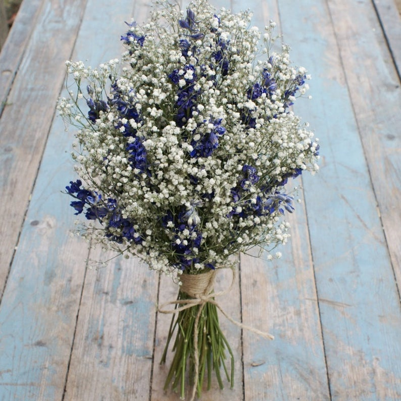 Dried Flower gypsophelia bouquet