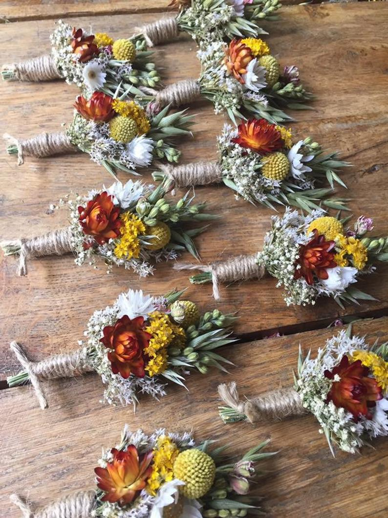 Dried Flower Buttonholes