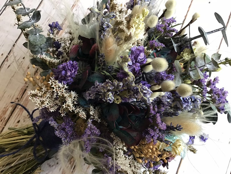 Dried Flower blue bouquet