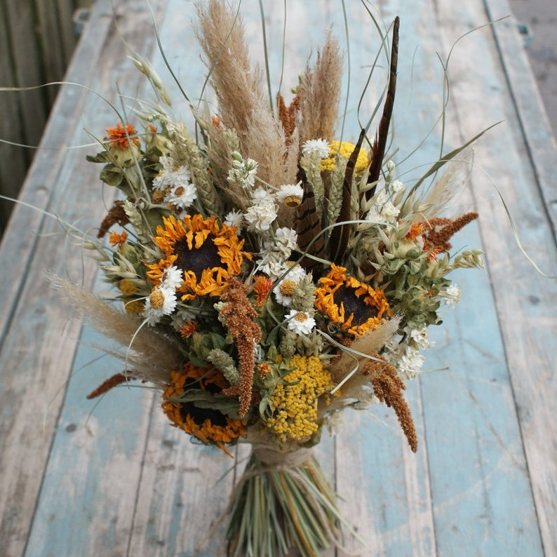Dried Flower wedding bouquet