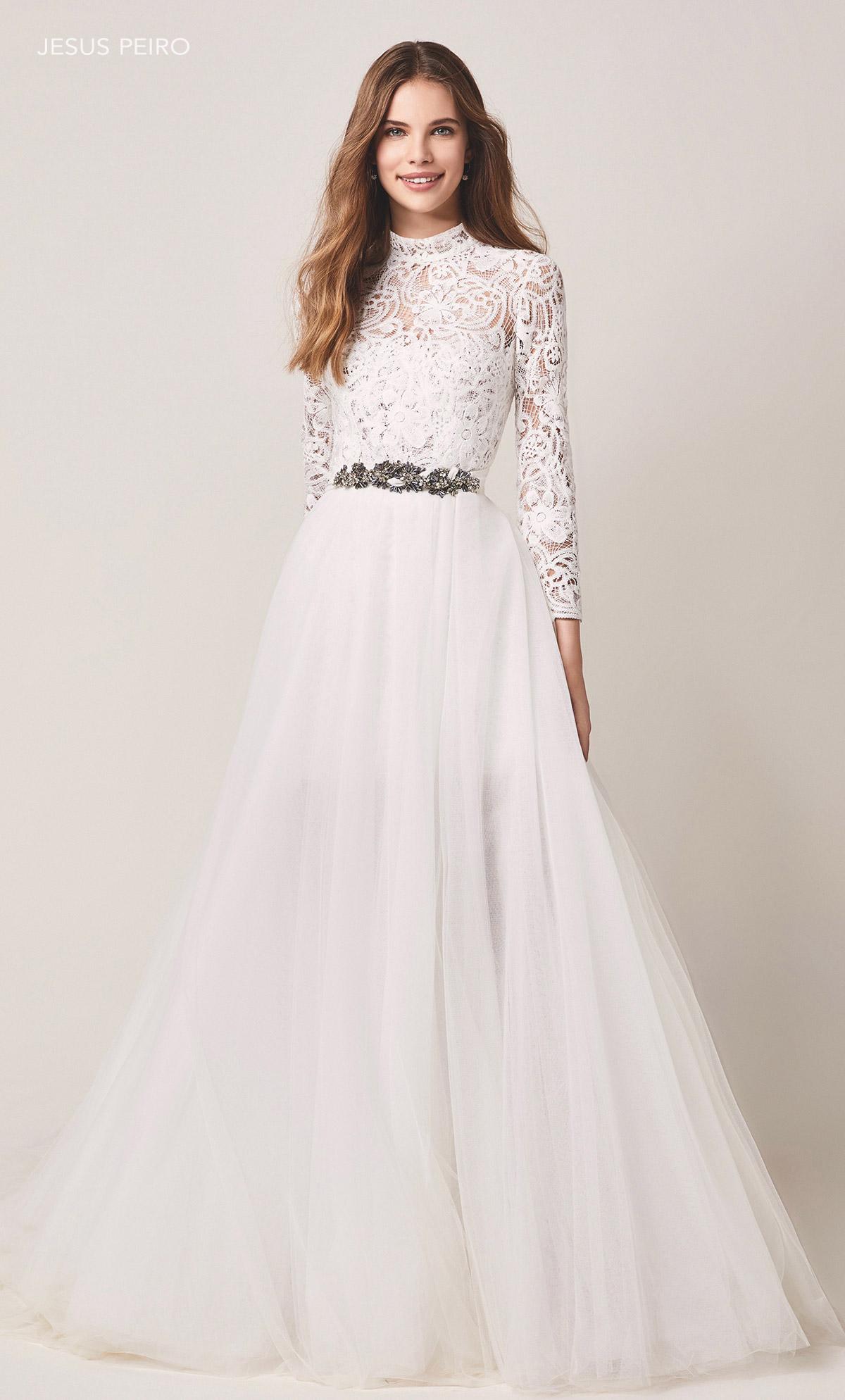Jesus Peiró lace wedding dress
