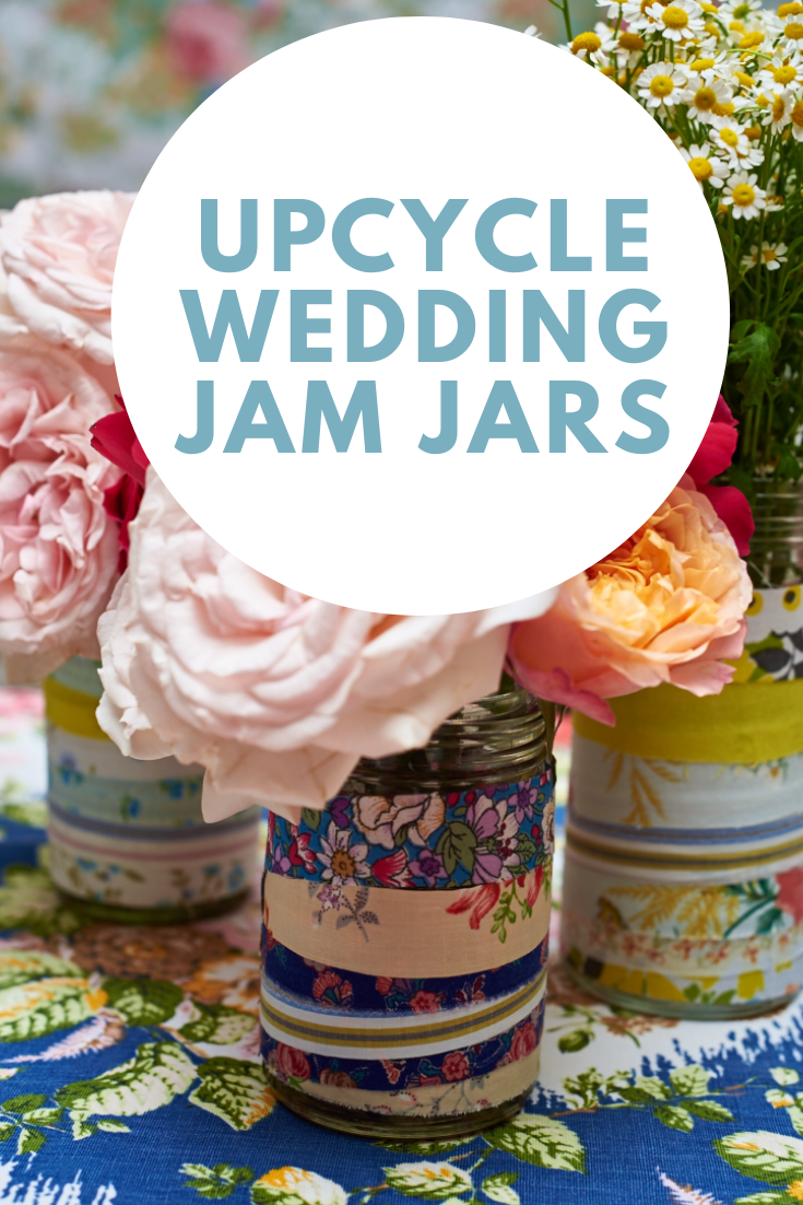 Upcycle Jam Jar wedding centrepieces