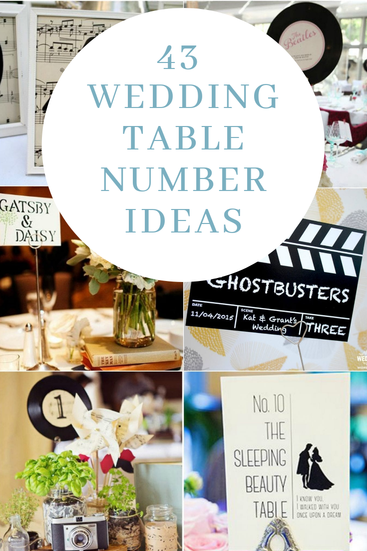 Creative Wedding Table numbers