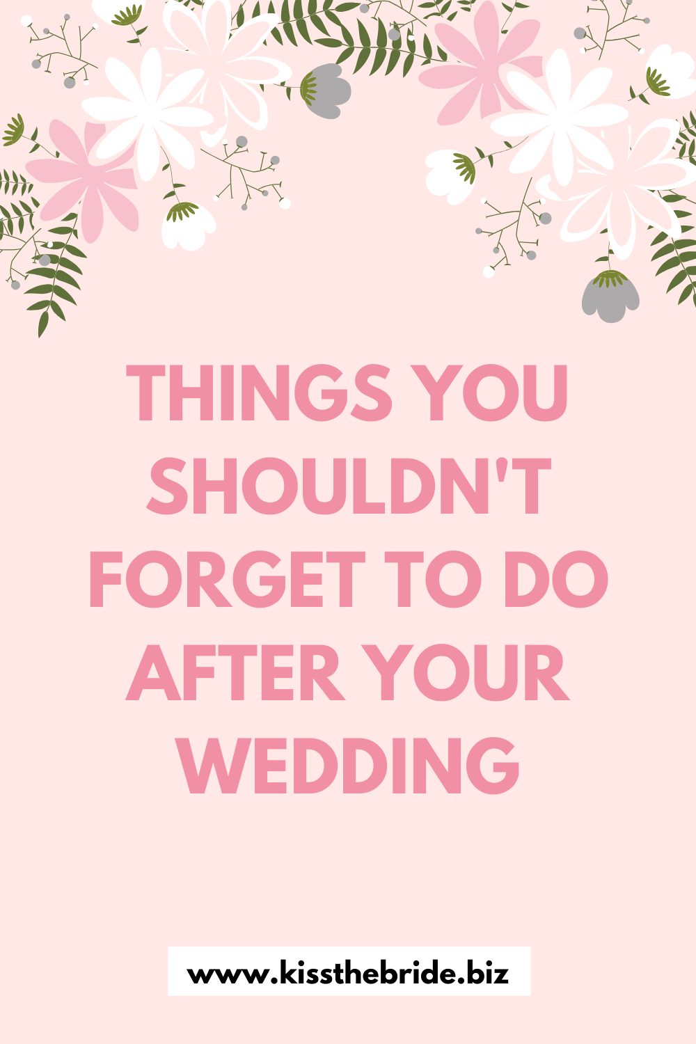 Things to do after the wedding