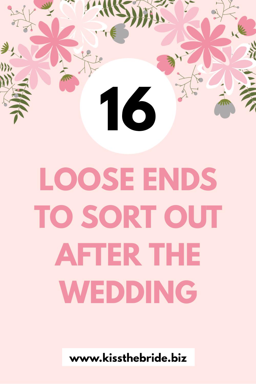 Post wedding checklist