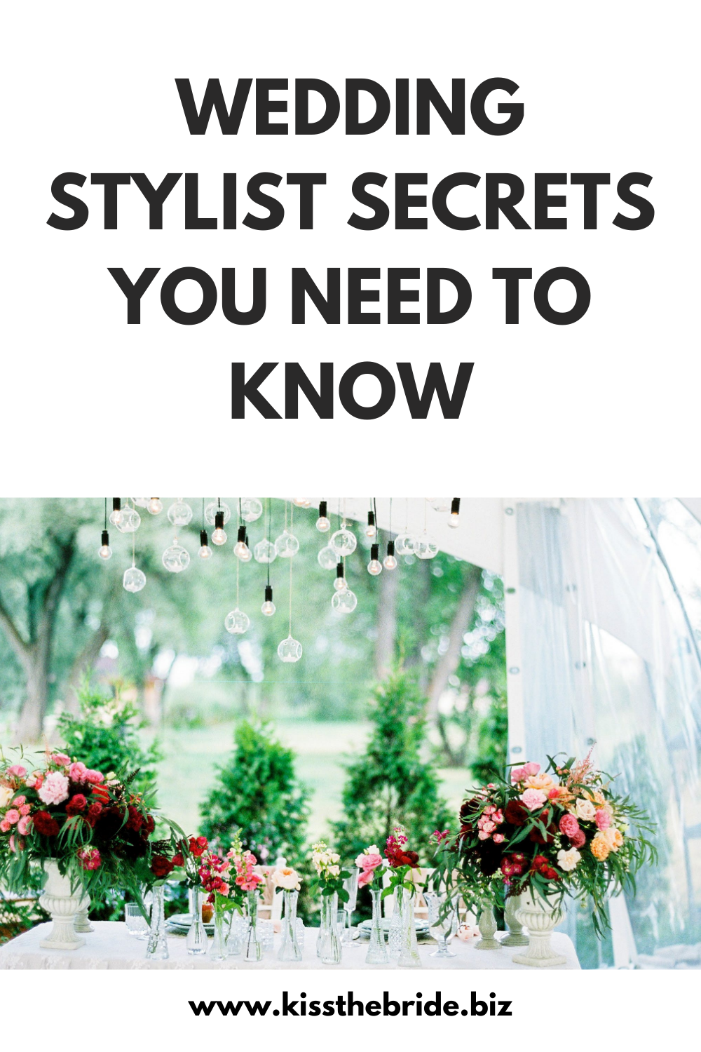 Wedding stylist tips and ideas