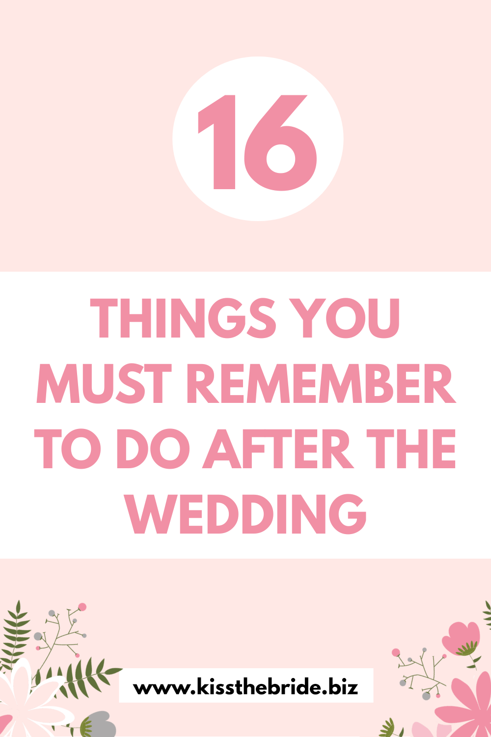 Things you must do after the wedding