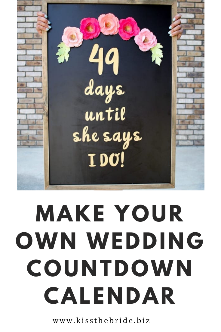 Make a Wedding Countdown calendar