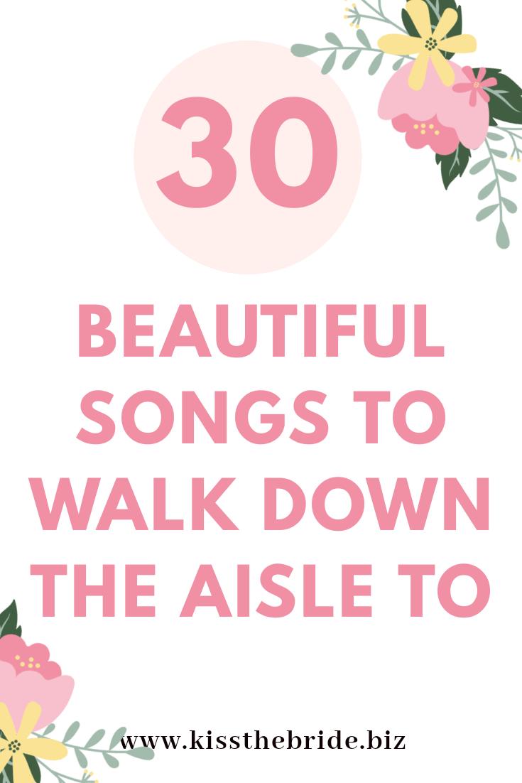 Wedding song ideas