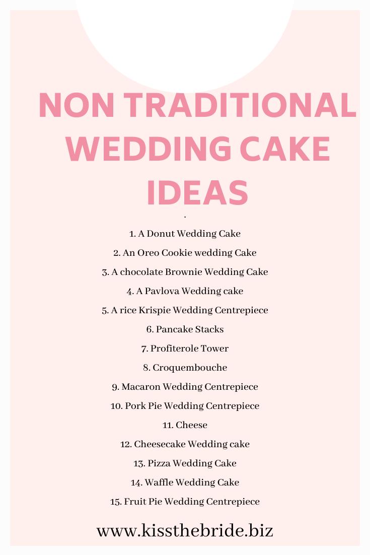 Non Traditional wedding cake ideas