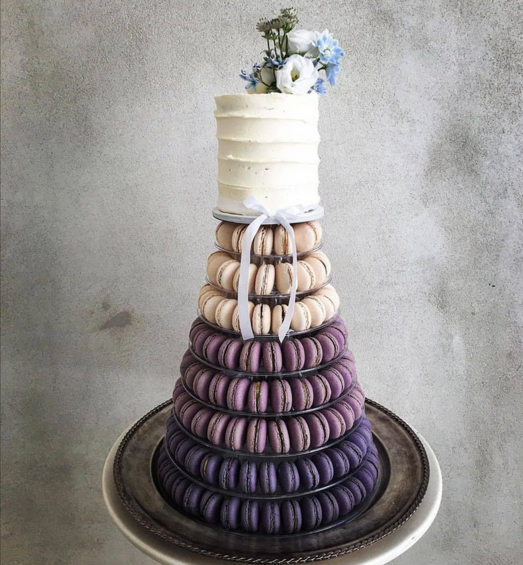 Purple Ombre Macaron tower