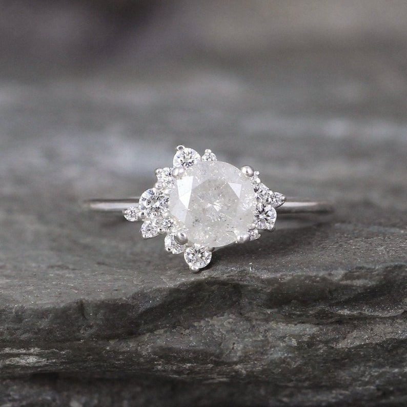 Misty White diamond engagement ring