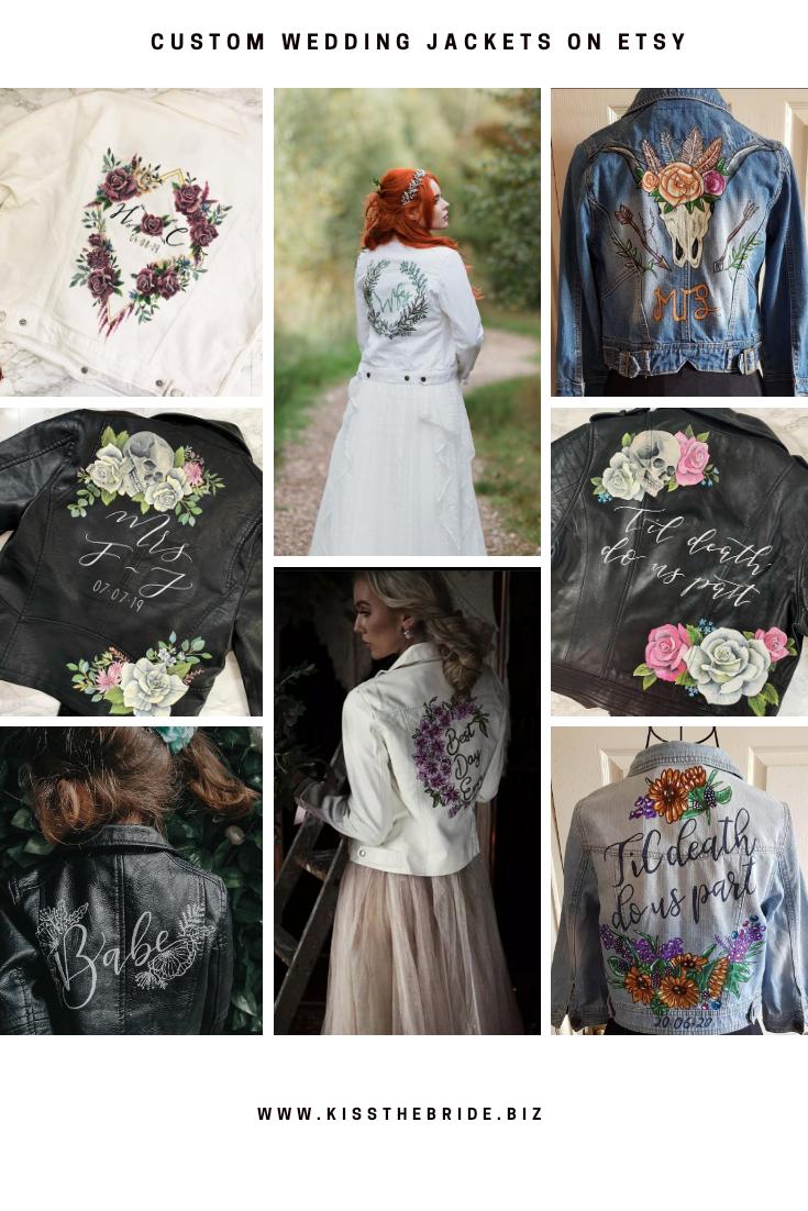 Custom wedding jackets