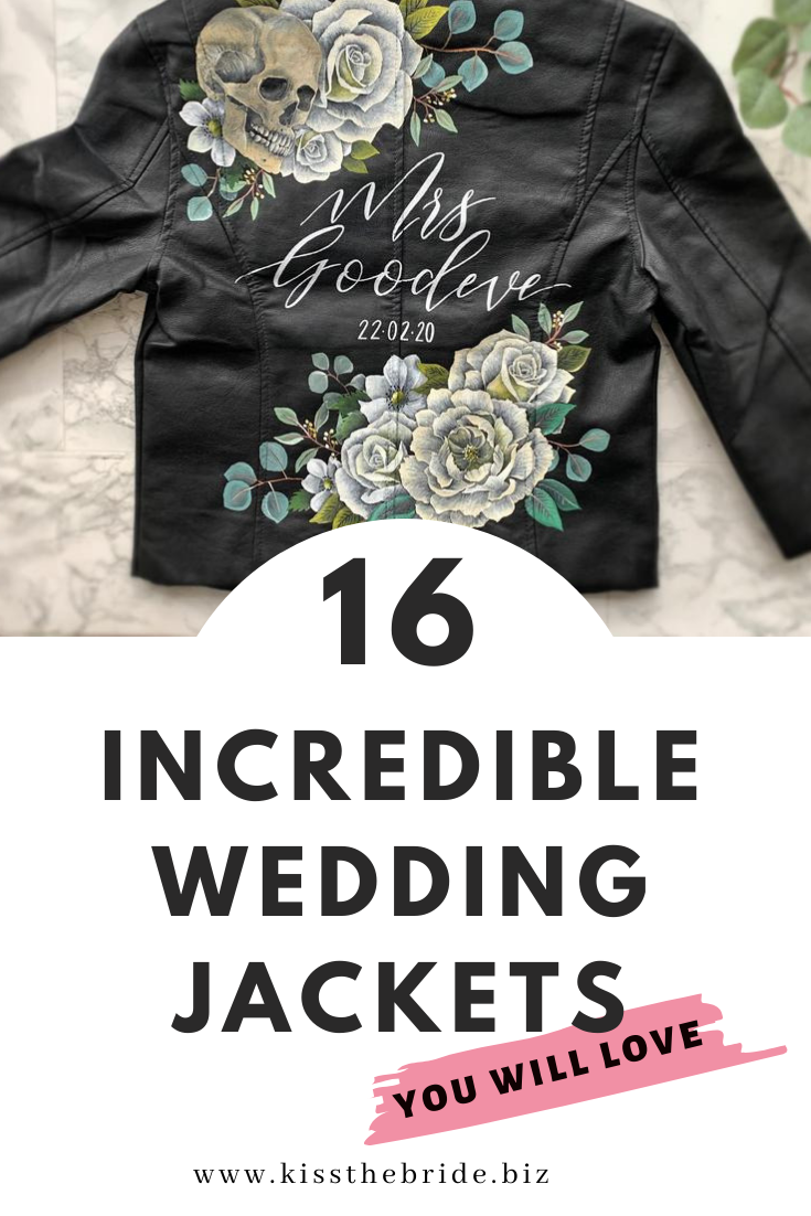 Wedding leather jacket