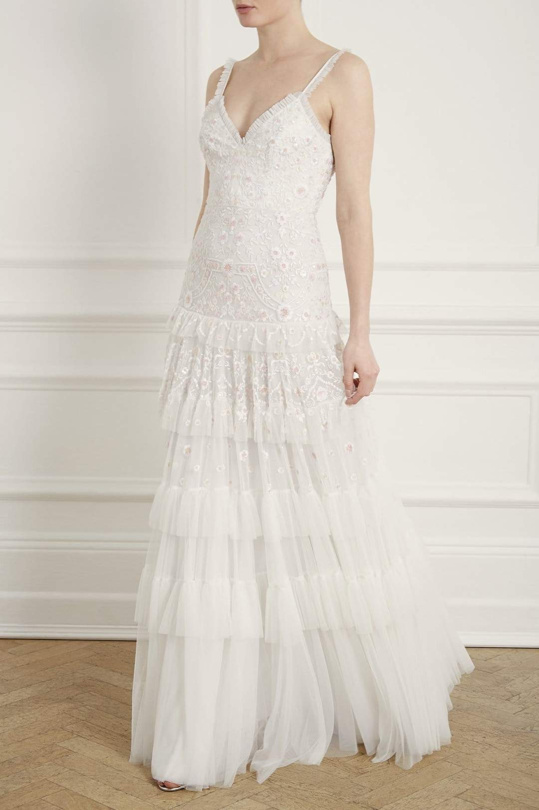 Needle and thread wedding dress