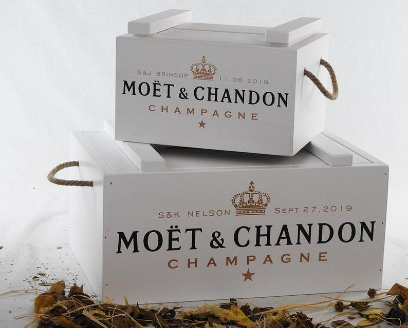 Champagne card box