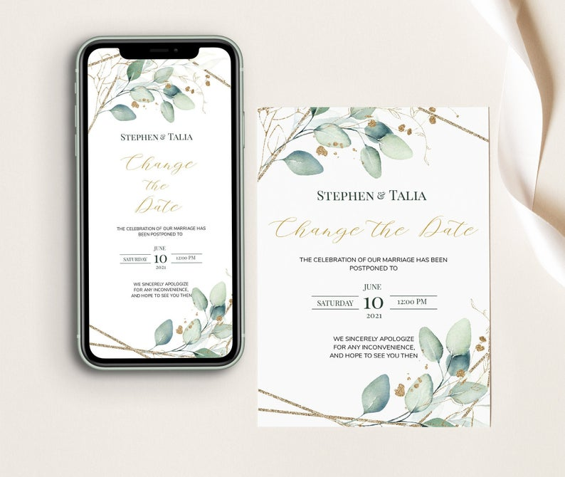 Wedding change the date ideas