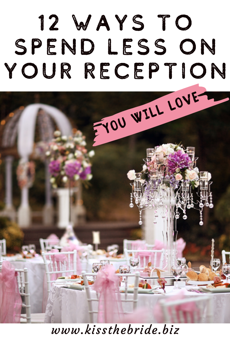 WAYS to spend less on your wedding reception