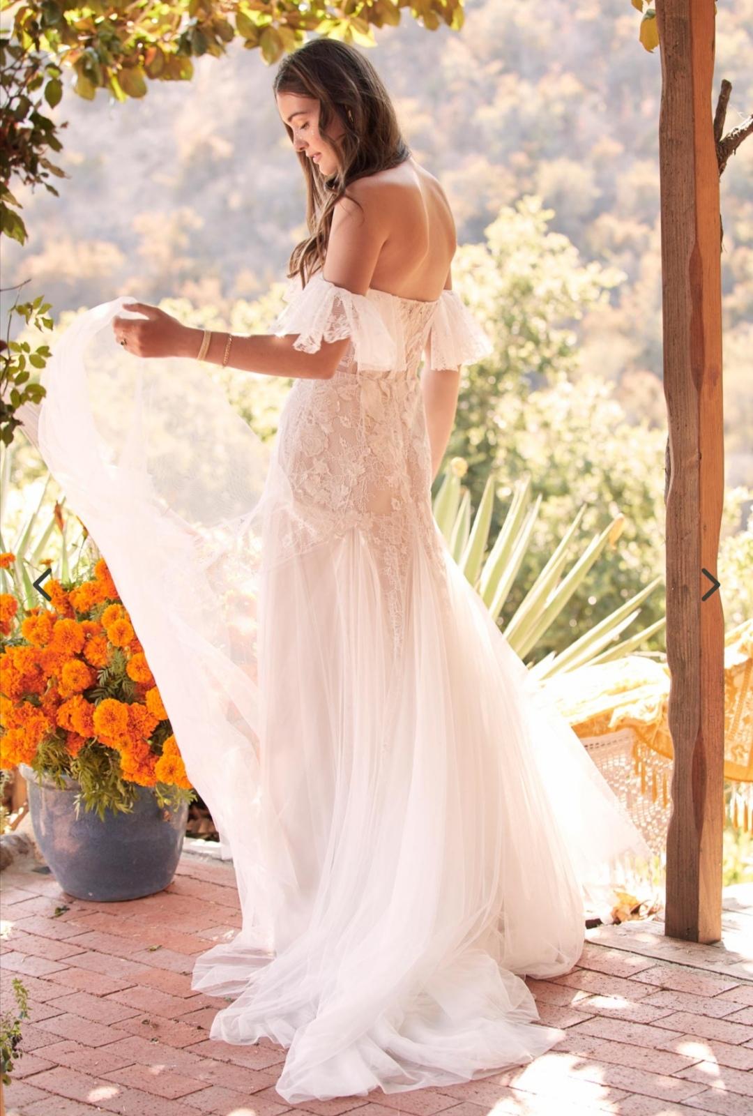 Boho off the Shoulder wedding dress