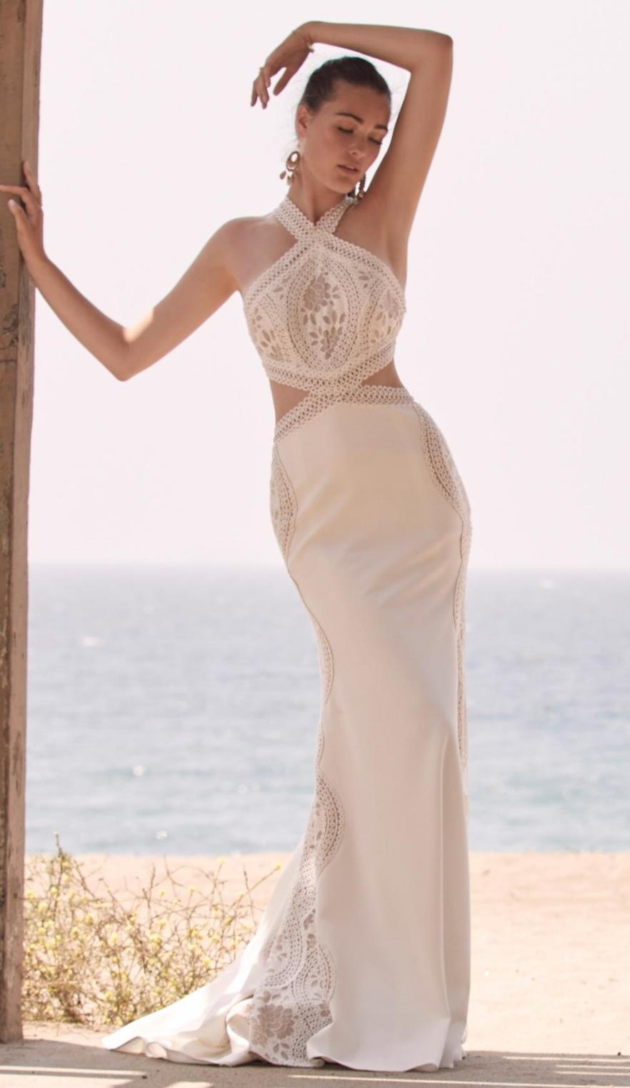 Boho Watters wedding dress