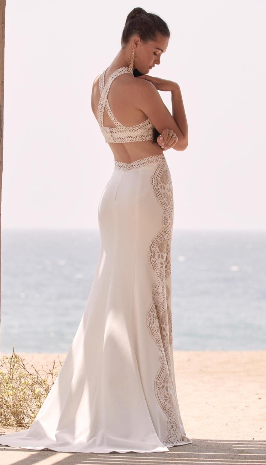 Boho lace wedding dress