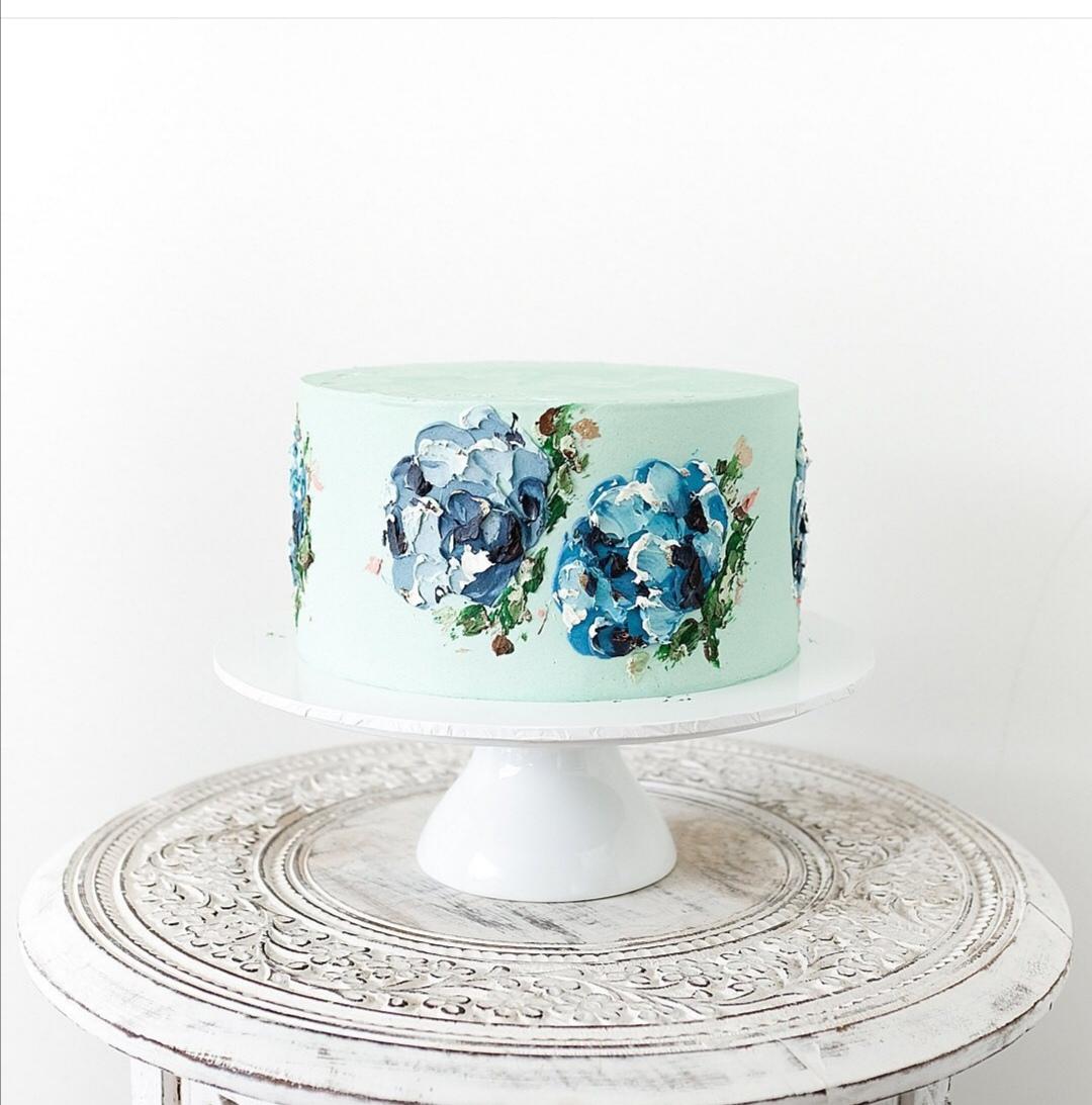 Single Tier buttercream wedding cake