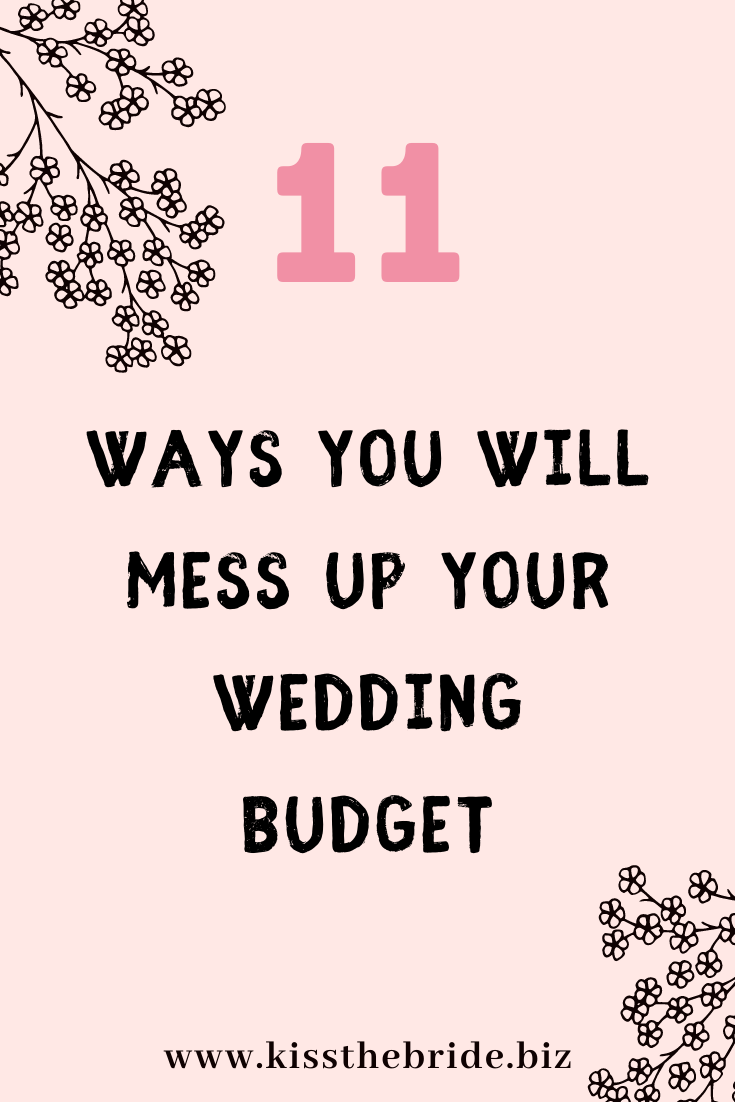 Wedding budget mistakes