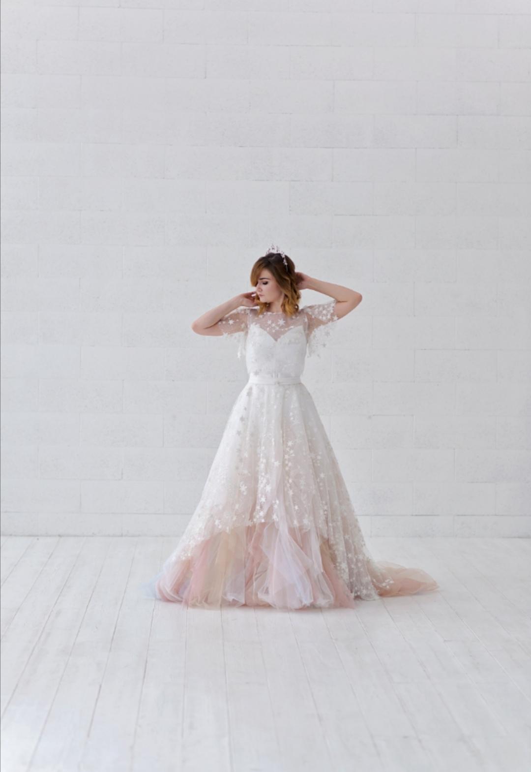 Ombre star wedding dress