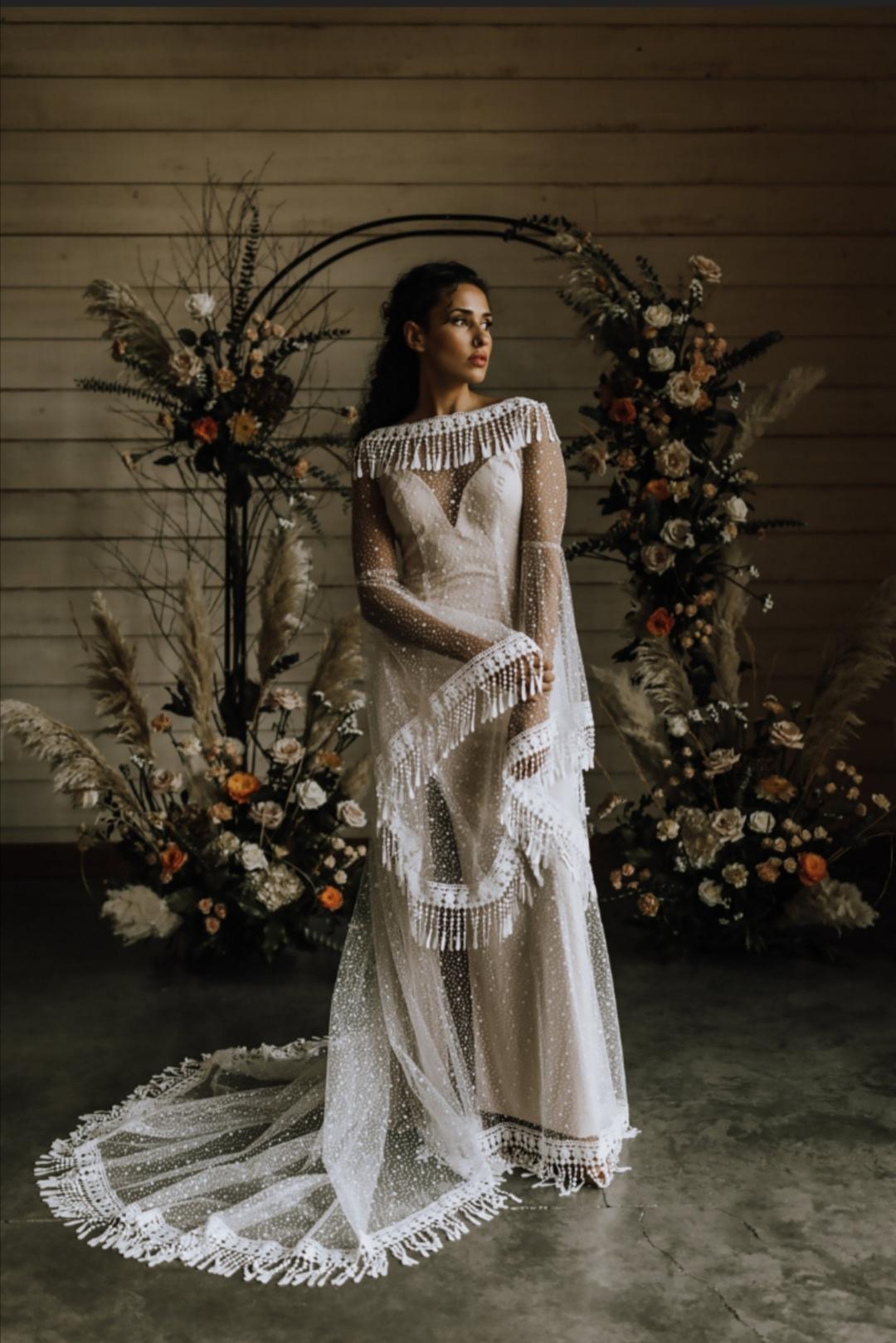 Stars boho wedding dress