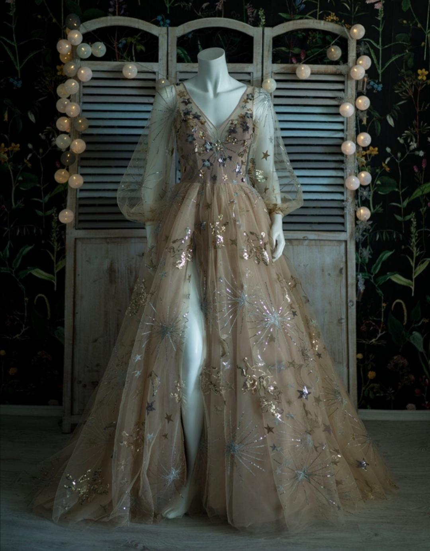 Stars wedding dress