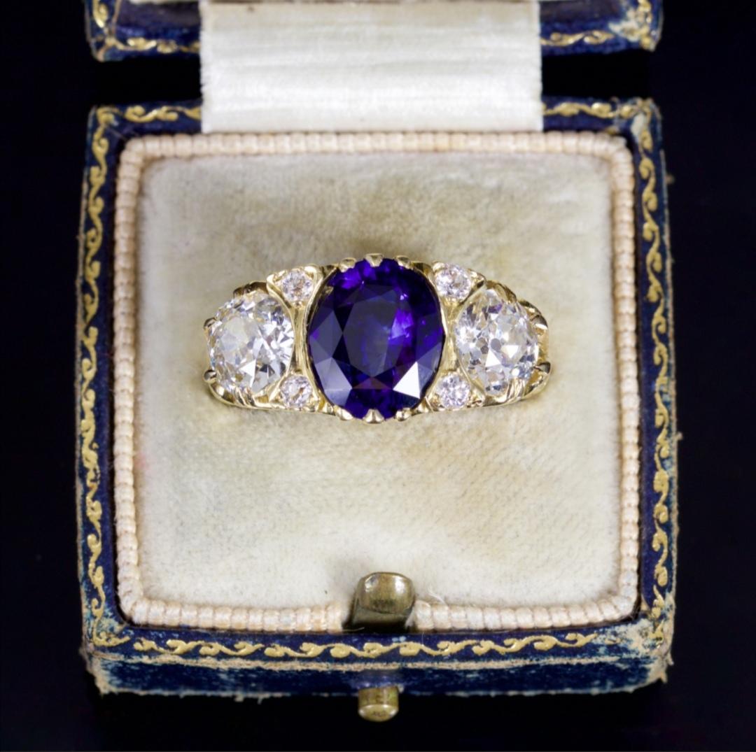 Victorian antique engagement ring