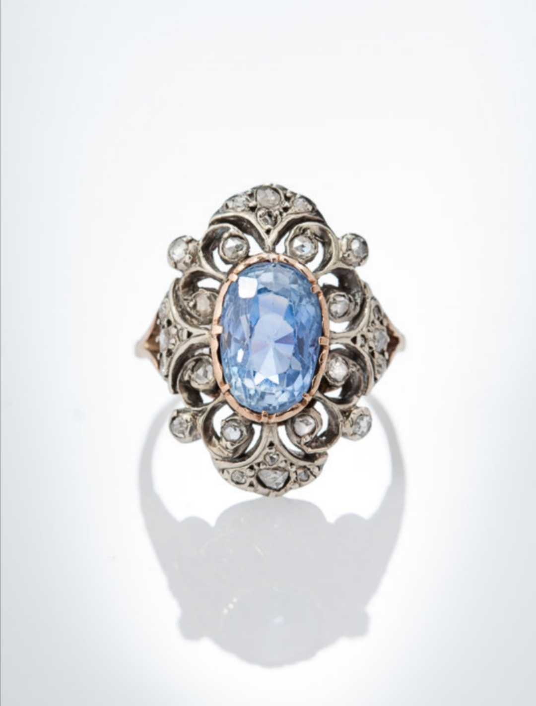 Antique sapphire engagement ring