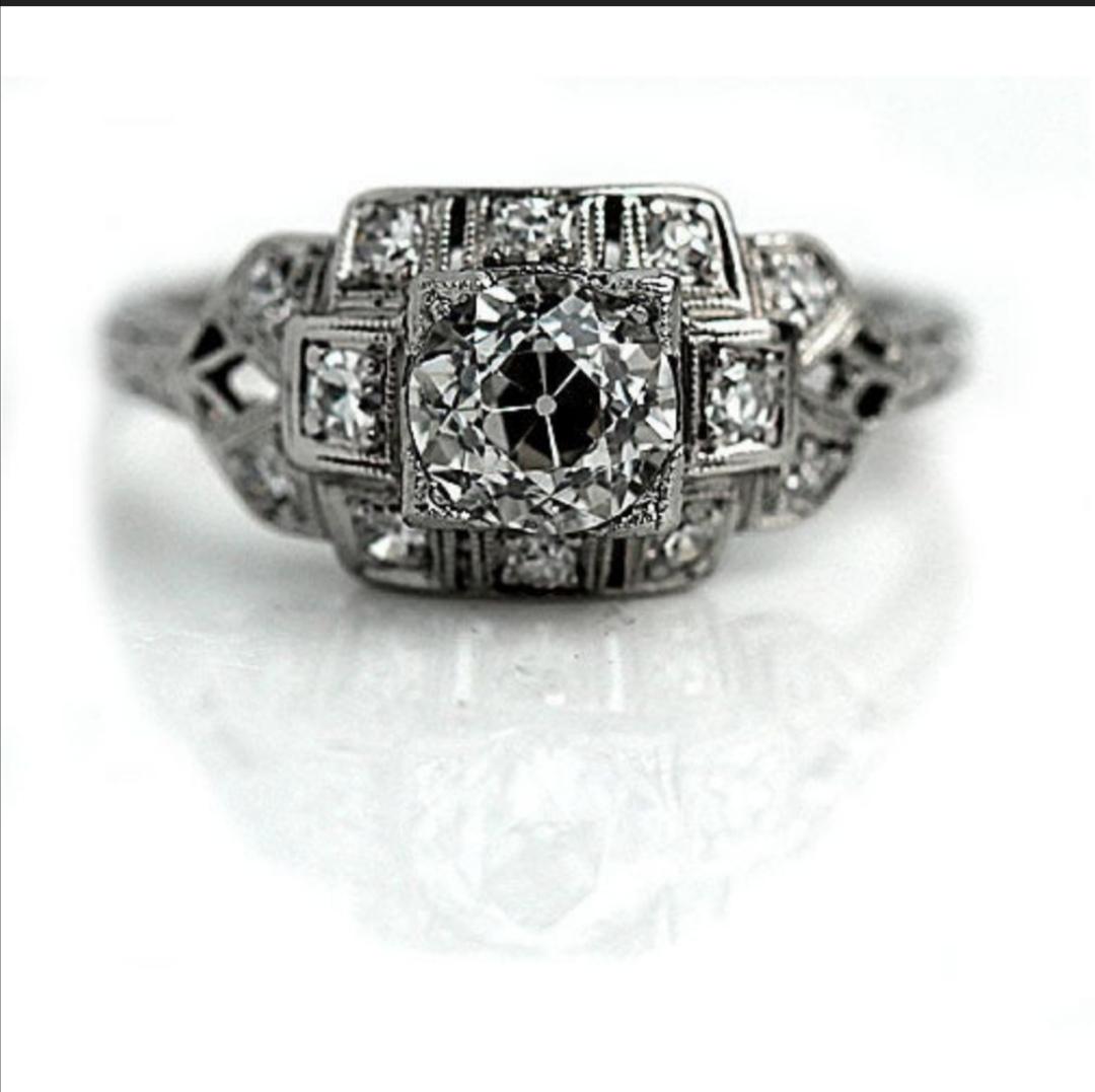 Art Deco antique engagement ring